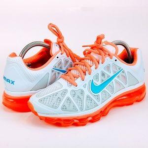 NEW Nike Air Max 2011 N7 White Mango Turquoise